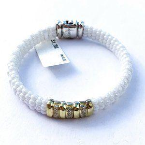 LAGOS White Caviar Diamond 18k Gold Bracelet